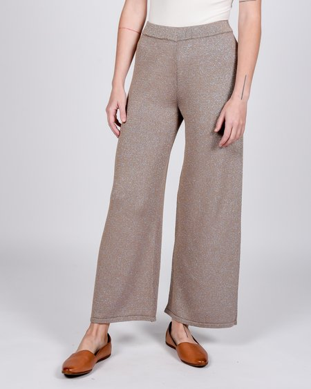 Paloma Wool Ant lurex knit pants - sparkly brown