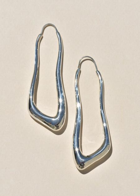 Leigh Miller Lanky Hoops - Sterling Silver