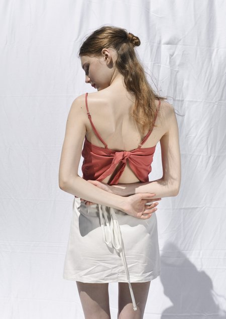 OhSevenDays Tie Top - Raspberry