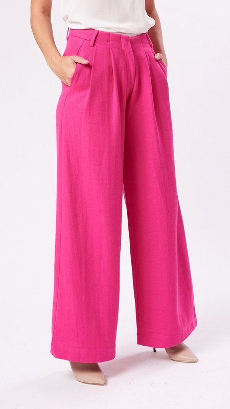 Mii Collection The Wide Leg Pant - Stabilo Pink