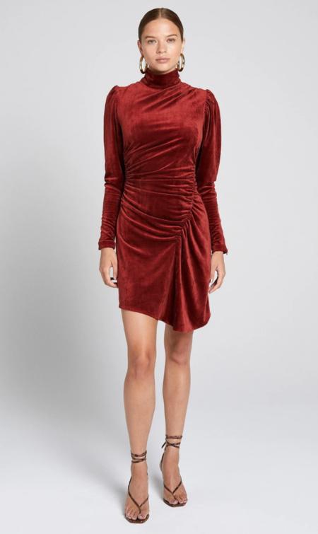 A.L.C. marcel dress - sumac