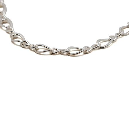 Maple Figure 8 50cm Chain - Silver
