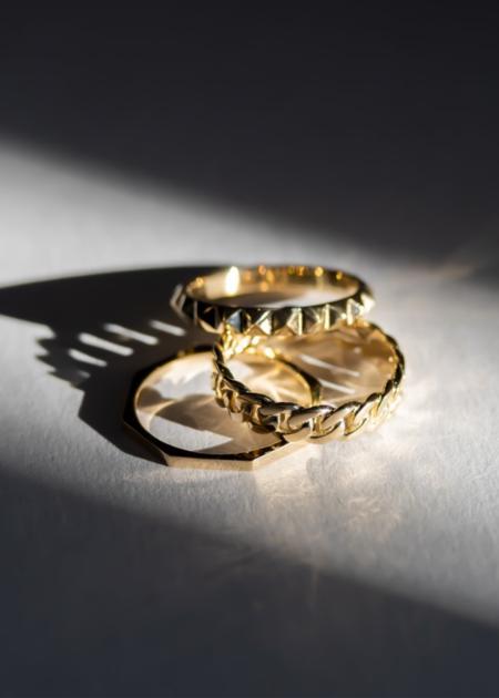 Futaba Hayashi Octagon ring - 14K reclaimed gold