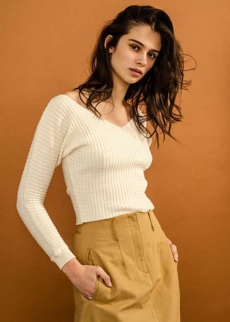 Penny Sage Mazar Skirt - Caramel