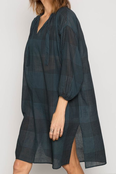 TWO NEW YORK PLAID DRESS - TEAL