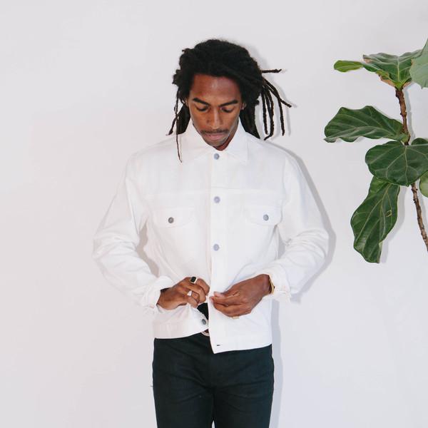 Basic Rights Denim Jacket, White