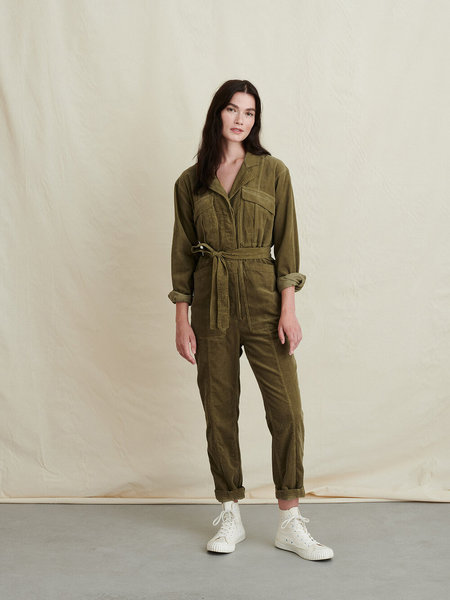 Alex Mill Expedition Fine Corduroy Jumpsuit - Olive Green