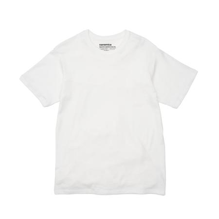 nanamica Loopwheel COOLMAX Jersey T Shirt - White