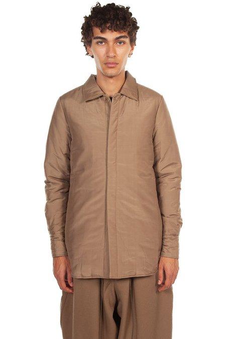 JOE CHIA Padded Shirt - Sand