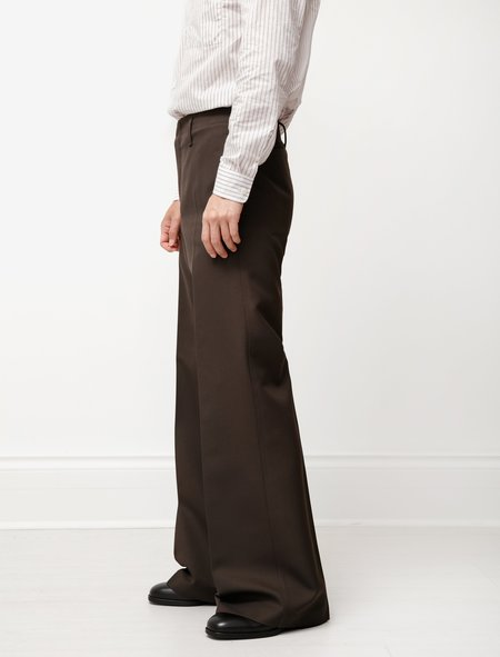 Lemaire Wide Leg Pants - Dark Brown