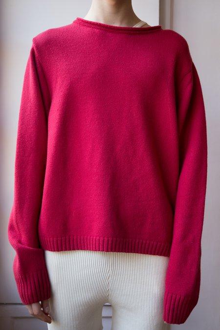 Judy Turner Merino Wool Meers Pullover - Ruby