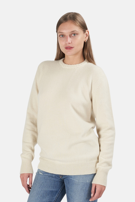 Blue&Cream x Harden Leaf Crew Neck Sweater - Cream
