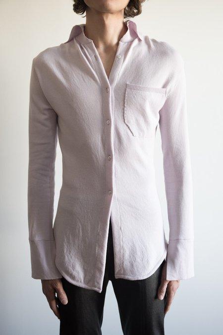 LUDOVIC DE SAINT SERNIN Merino Wool Skinny Shirt -  Lavender