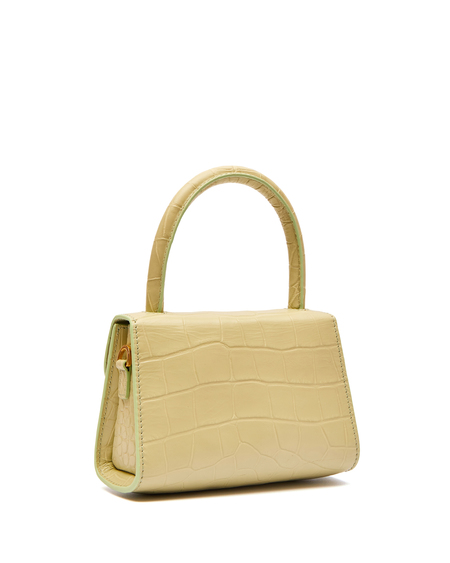 By FAR Mini Crocodile-effect Tote - Sage Green