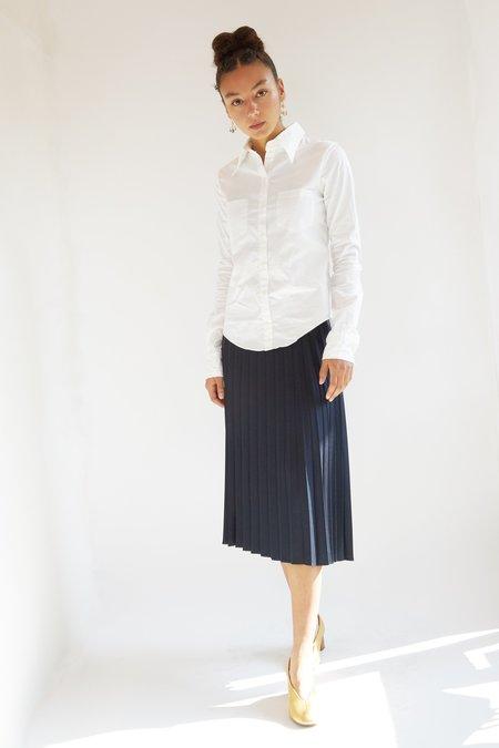 HAZEL BROWN Pleated Skirt - Navy