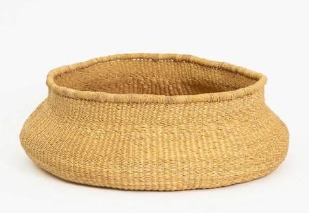 Kazi Large Belly Grass Basket