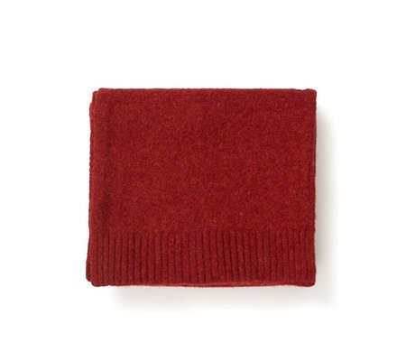 Norse Projects Norse Brushed Scarf - Carmine Red