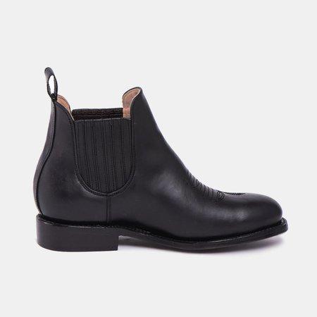 The CANO Shoe MARTHA Charro Boot - Black