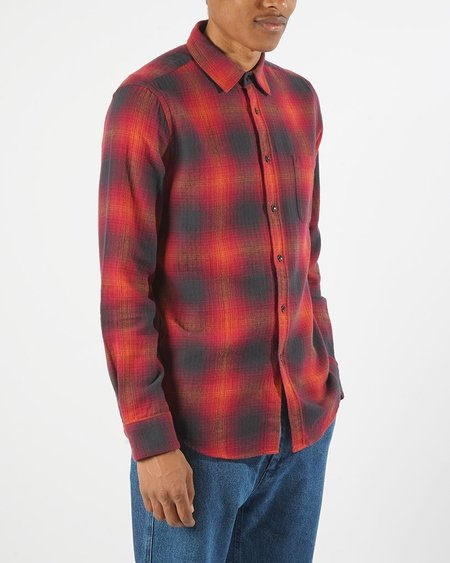 Portuguese Flannel Light My Fire Shirt - Red Ombre Plaid