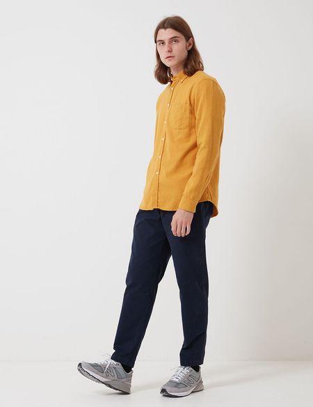 Bhode Classic Cotton Button Down Shirt - Mustard