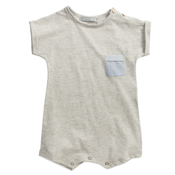 1+ in the Family Marcel Romper Grey Melange