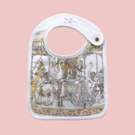 Kids Atelier Choux Caroussel Gift Set of Swaddle Blanket & Bib