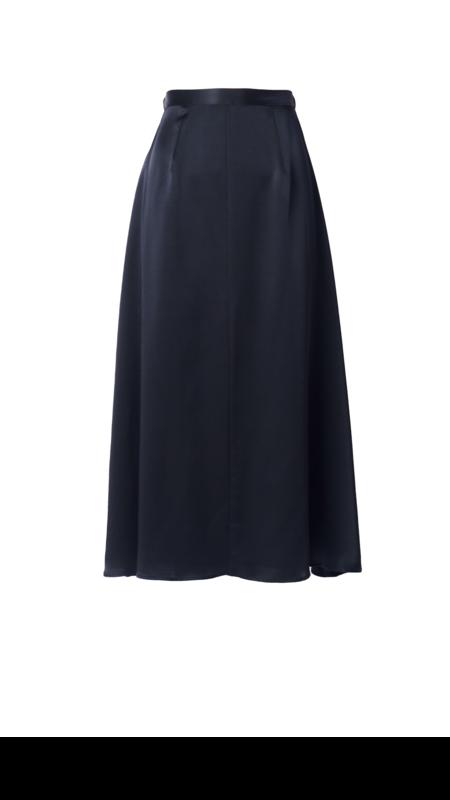 Emerson Fry Silk Midi Skirt - Black