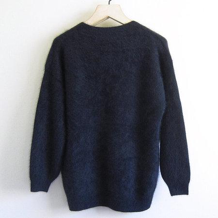 CT Plage brushed wool cardigan - navy