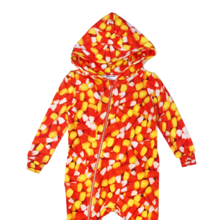 Kids Romey Loves Lulu Candy Corn Zippered Hoodie Spacesuit