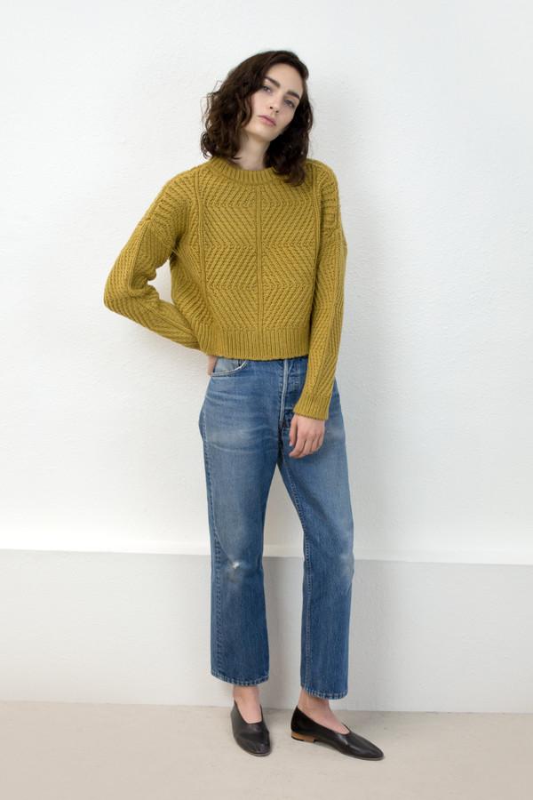 Micaela Greg Ochre Bevel Sweater