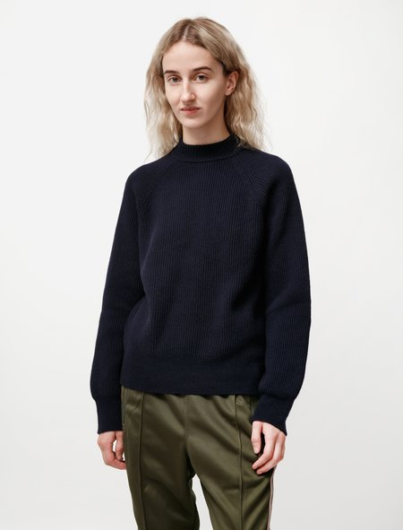 Norse Projects Evelina Lambswool Sweater - Dark Navy