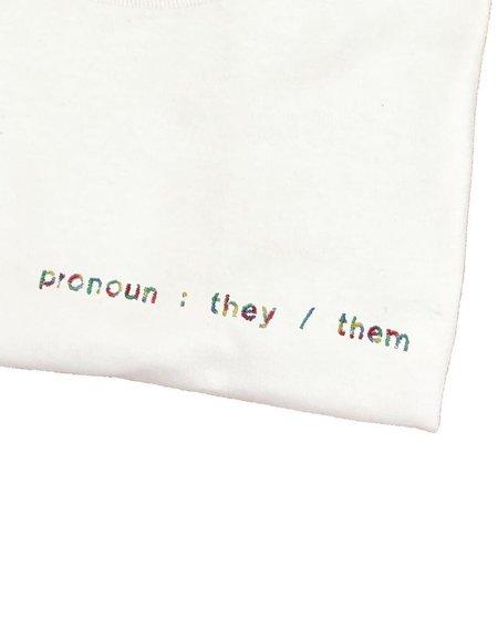 unisex house of 950 non-binary pronoun embroidery tee shirt