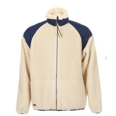 orSlow Boa Fleece Zip Up Jacket - Ecru