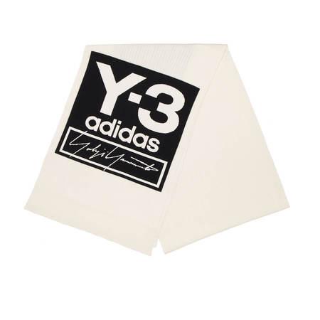 Y-3 Logo scarf - White