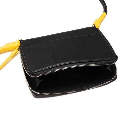 RICK OWENS DRKSHDW Large cord purse - black