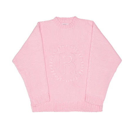 MARTINE ROSE Hand knitted jumper - Pink