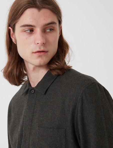 Folk Clothing Folk Patch Flannel Shirt - Stone Moss