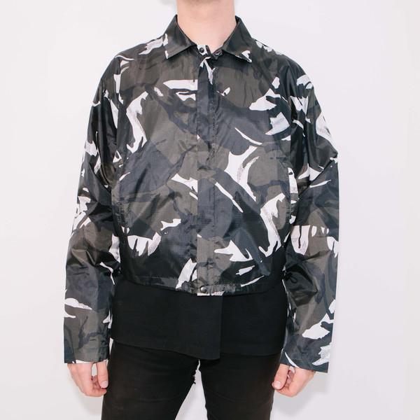 Haik W/ Wind Breaker Short Jacket, Black Camo