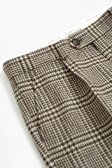 EDITIONS M.R. Nathan crop trousers - brown/off white check