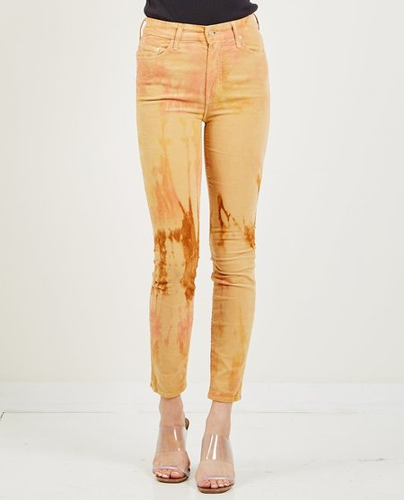 Mother Denim High Waisted Looker Ankle Jean - Tie-Dye Hopscotch