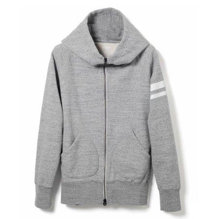 Momotaro Jeans Momotaro GTB Heavyweight Zip Up Hoody - Grey