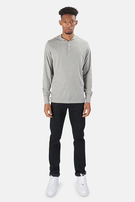 Blue&Cream Henley Hoody Sweater - Grey