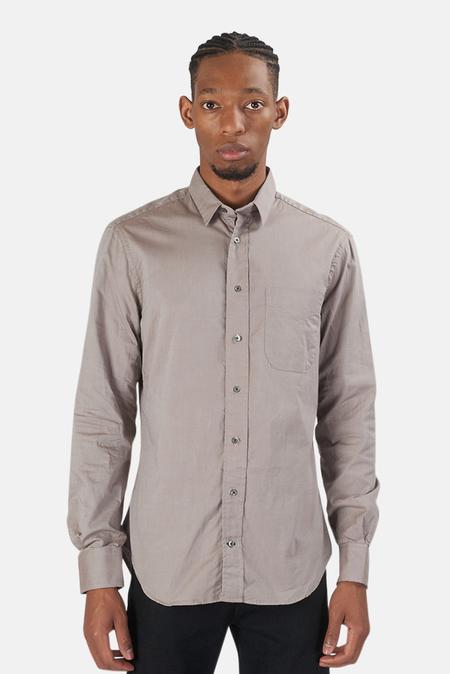 Blue&Cream Pinpoint Shirt - Putty