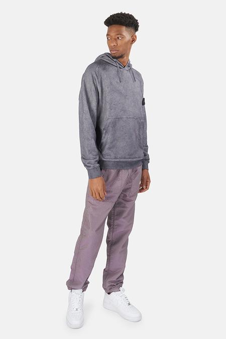 Stone Island Dust Treatment Hoodie Sweater - Purple