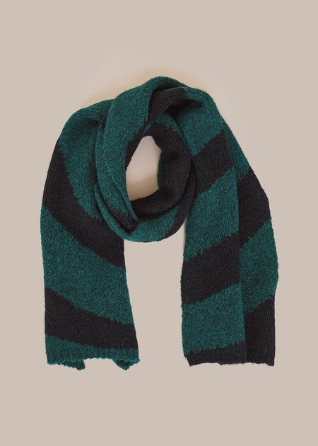 Paloma Wool Dixit Scarf - Forest Green/Navy Blue