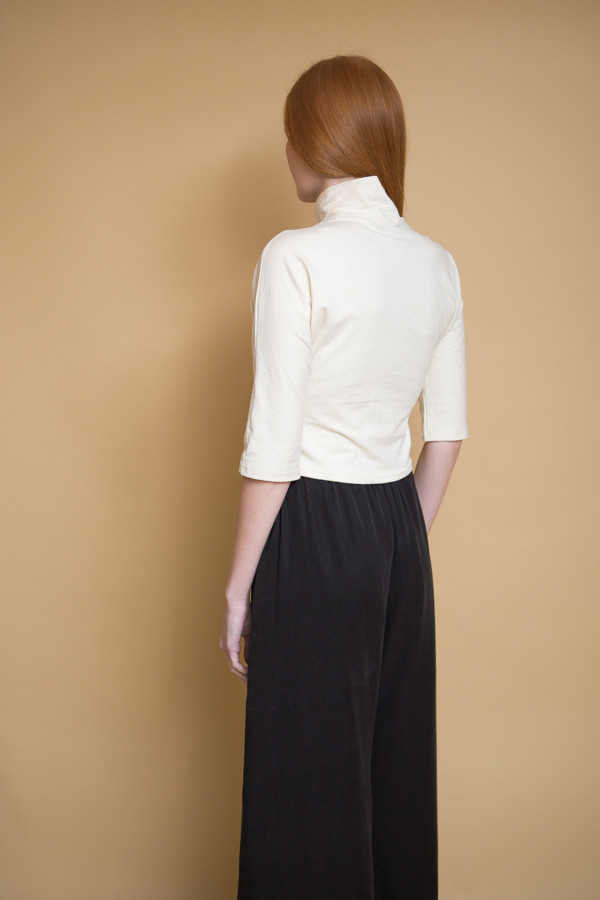 Lauren Winter Turtleneck Top / Ivory