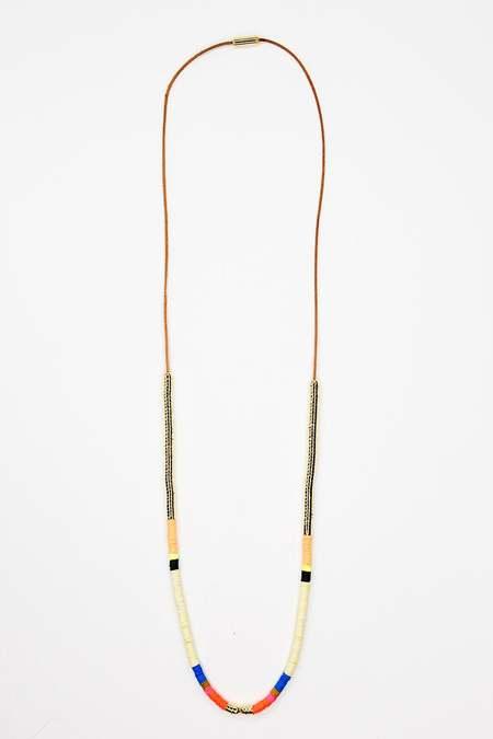 JULIE THÉVENOT Medium symmetric Isiand necklace - gold plated