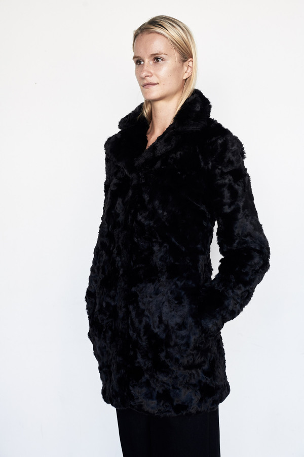 Goosecraft Faux Fur Coat - Black