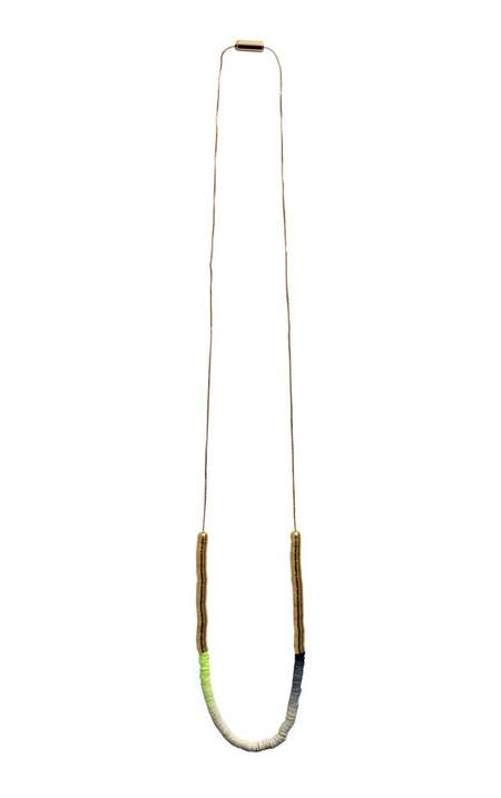 JULIE THÉVENOT Gradient simple Isiand necklace - gold plated