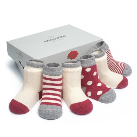 Etiquette Cashmere Bundle Socks Red